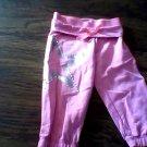 Dankskin Now toddler girl's pink bandwrist pant size 4t-5t