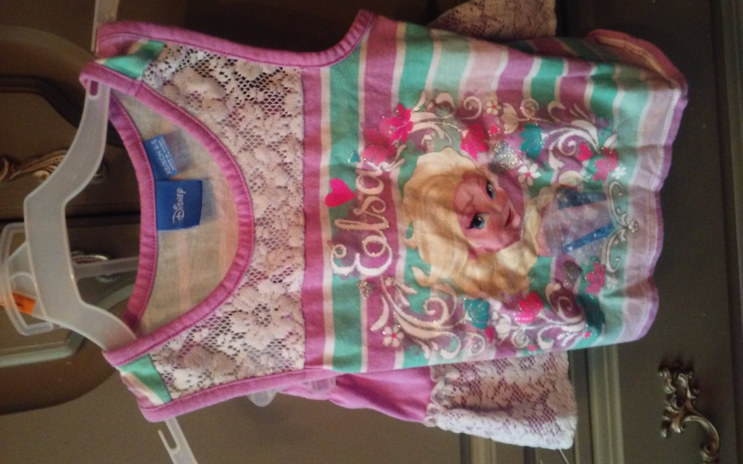 Disney toddler girls sleeveless Else top skirt set 4t-5t