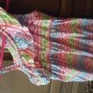 Healthtex toddler girls white,green, blue sleeveless dress 5t