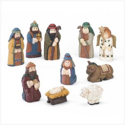 10 PC Resin Nativity Set