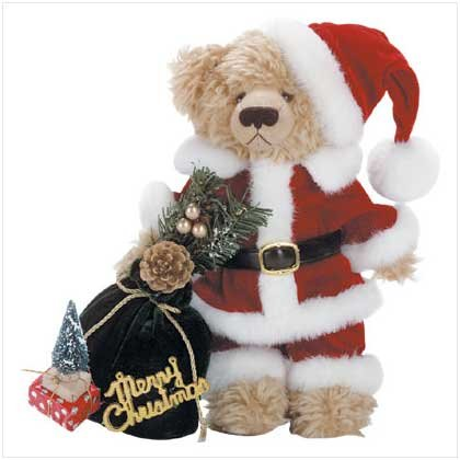 "11"" Tall Plush Santa Bear"
