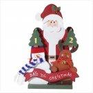 Wooden Santa, Snowman, and Reindeer