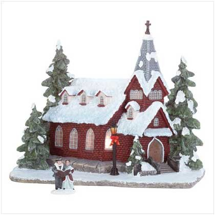 Holiday Lighted Church Decoration