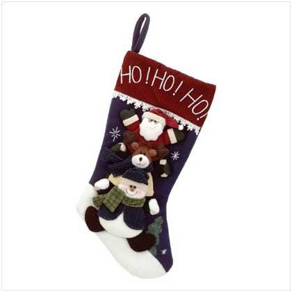 Plush Christmas Friends Stocking