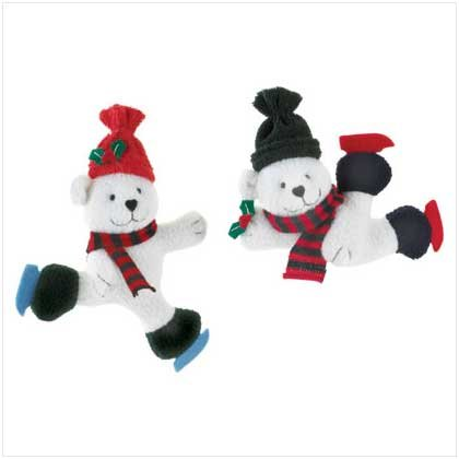 Plush Bear Ornaments Set of 2