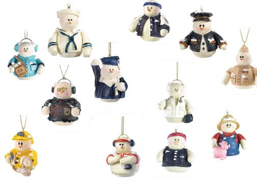 Collection of 12 Snowberry Cuttie Ornaments