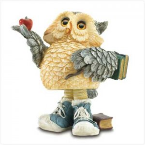 Back to School Owl Bobble Figurine