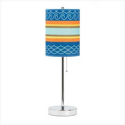 Sun and Surf Pattern Lamp