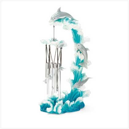 Dolphin on Wave Wind Chime