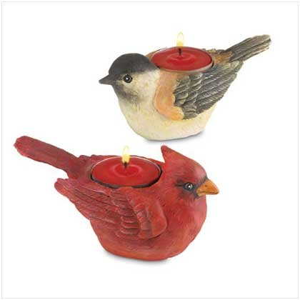 Cardinal and Firend Tealight Holder Set