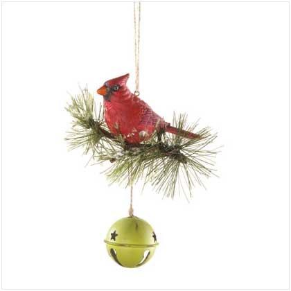 Cardinal on Bell Doorknob Hanger