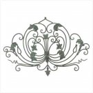 Verdigris Wrought Iron Wall Plaque
