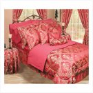 Queen Bedding Ensemble (Red) - 30 Pc