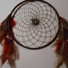 DreamCatcher Mandella Handcrafted Native Amercian Art Sinew Feather 83