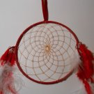 DreamCatcher Mandella Decoration Handcrafted Native Amercian Art Sinew Feather 8