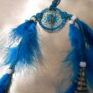 Small Dreamcatcher Handcrafted Native American Art Feather Sinew Rings Leather