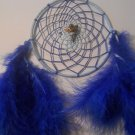 Dreamcatcher 5 Inch Blue Mandella Native Art Feather Sinew Valentine Gift 5