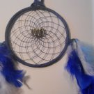 Dreamcatcher 5 Inch Blue Mandella Native Art Feather Sinew Valentine Gift 3