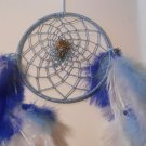 Dreamcatcher 5 Inch Blue Mandella Native Art Feather Sinew Valentine Gift 2