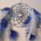 Dreamcatcher 5 Inch Blue Mandella Native Art Feather Sinew Valentine Gift 4