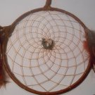 Dreamcatcher 7 Inch Brown Mandella Native Art Feather Sinew Valentine Gift 8