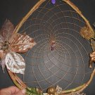 HandMade Dreamcatcher Christmas Wreath Grapevine Native American art OOAK 102