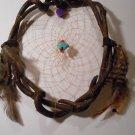 HandMade Dreamcatcher Grapevine Native Art Sinew Feathers Decoration Mandella 12