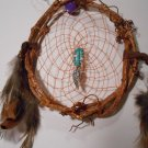 HandMade Dreamcatcher Grapevine Native Art Sinew Feathers Decoration Mandella 6