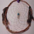 HandMade Dreamcatcher Grapevine Native Art Sinew Feathers Decoration Mandella 3