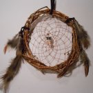 HandMade Dreamcatcher Grapevine Native Art Sinew Feathers Decoration Mandella 2