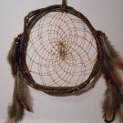 HandMade Dreamcatcher Grapevine Native Art Sinew Feathers Decoration Mandella 0