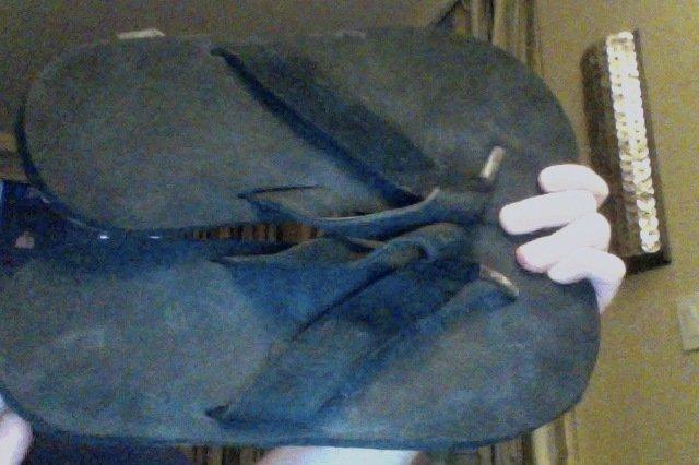 unbranded flip flops 12m black used