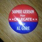 al gore for delegate 1984 pin