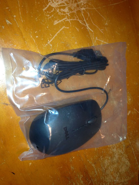 dell black usb mouse new