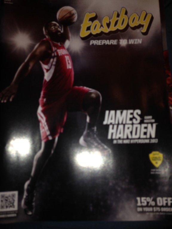 eastbay catalog james harden 2013 new