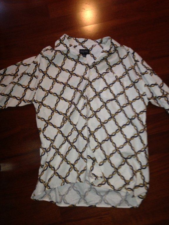 esquire collared button down shirt size L