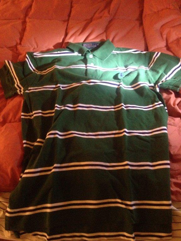 Polo ralph lauren green dress shirt sizeM