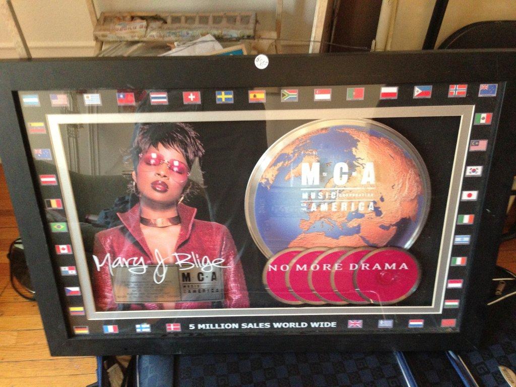 mary j blige no more drama 5 million sold platinum plaque