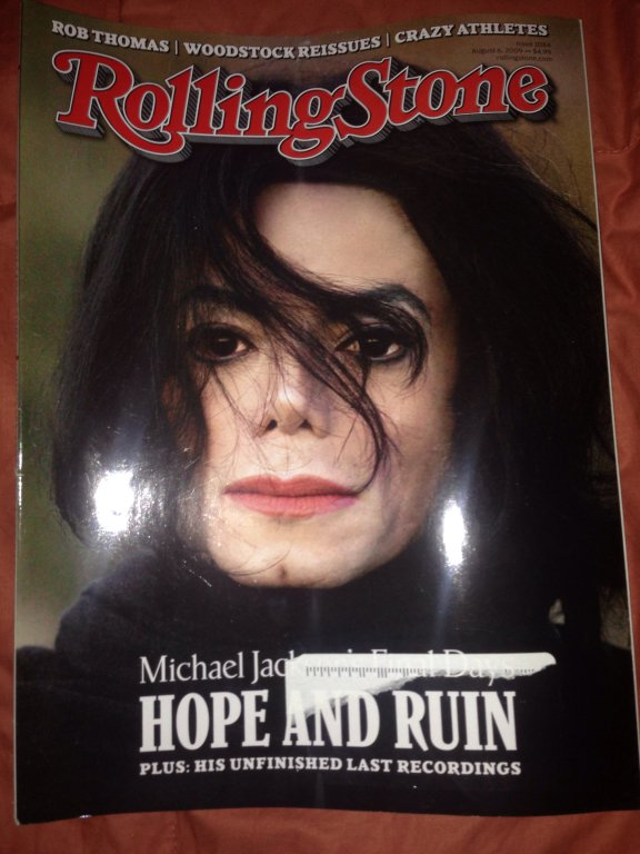 rolling stone magazine michael jackson cover 8/6/09 new