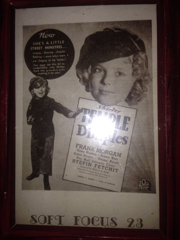 shirley temple dimples framed 8'' X 6'' placard