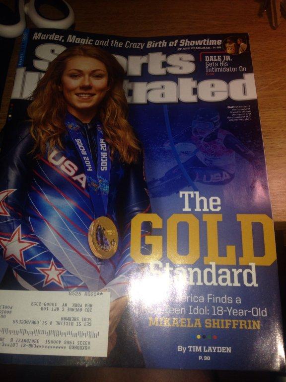 sports illustrated 2014 winter olympics mikaela shiffrin magazine