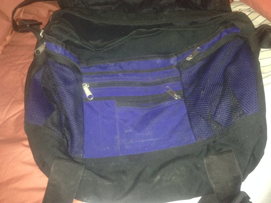 trager used blue backpack