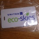 United Airlines Eco-skies lanyard badge