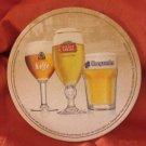 Belgian beers drink coaster