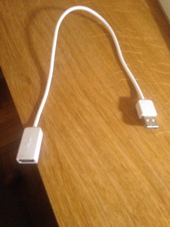 USB extension cord 3' long