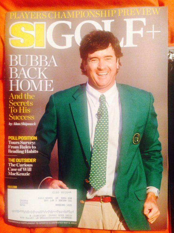 sports illustrated golf magazine bubba watson cover new