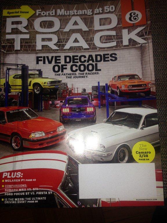 Motor Trend magazine May 2014