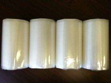 "Four Weston 8""X50' Vacuum Sealer Rolls - Great Food & $$ Saver! Free Shipping!"