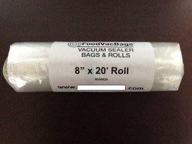 One 8x20 Heavy Duty Roll of 3.5 mi Vacuum Sealer Food Storage / Freezer Bags
