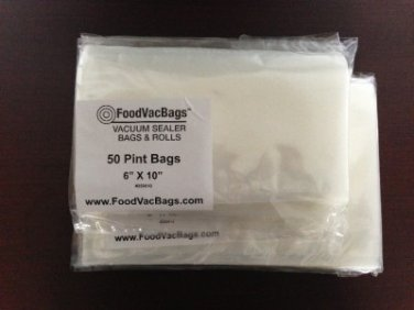 50 PINT 50 QUART FoodVacBags Universal Food Storage Bags for Vacuum Sealers